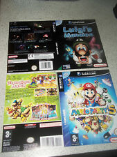Nintendo Gamecube replacement game case insert/manche. reproduction. pal. pas de jeu.