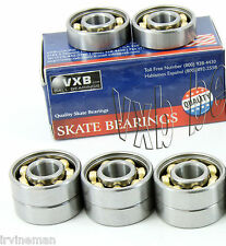 Old School Set of 8 Aggressive Pro Skateboard Ball Bearings Kit with Bronze Cage