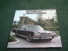 1986 FORD LTD CROWN VICTORIA USA BROCHURE Sedan Coupe Wagon Country Squire LX