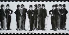 Charlie Chaplin Black & White Silent Movie Film Strip Wallpaper Border Room Deco
