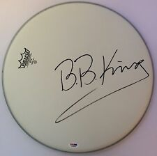 "B.B. King BB Signed Remo 14"" Drumhead PSA/DNA Autographed LOA Authentic U03889"