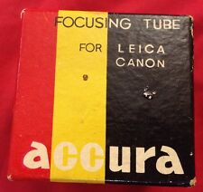 Vintage ACCURA EXTENSION FOCUSING TUBE For Leica Canon Camera Photography Exakta