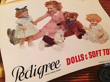 Vintage 1954 Triang Pedigree dolls catalogue