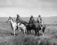 THREE PIEGAN BLACKFEET CHIEFS 8X10 PHOTO NATIVE AMERICAN EDWARD S. CURTIS