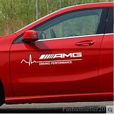 1Pair AMG Decal Vinyl Car Stickers Auto Waist Line Door Body Scratch Sticker Dec