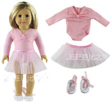 1 set Doll Clothes for 18'' American Girl Fashion Pink Ballet dress