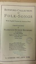 Botsford Collection Of Folk Songs: Music Score (J1)