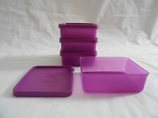 Tupperware set of 4 small mini square away containers seals lunch bag box