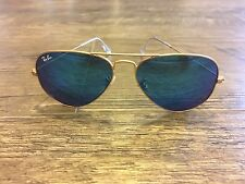 Used Gold-Rimmed Blue-Lens Ray-Bans Aviators