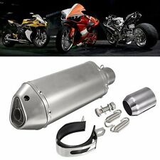 Motorcycle Stainless Steel Exhaust Muffler Slip on Street Racing Bike 38-51mm