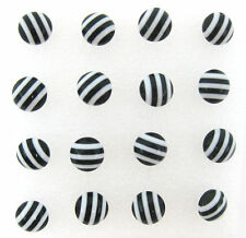 Wholesale lots 8 Pairs Faceted Round Zebra Style Earrings Stud Jewelry Fashion