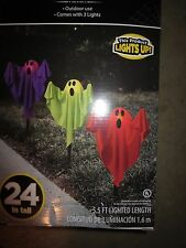 Ghost Fabric Halloween Lawn Stakes, Set Halloween Decoration Yard Decor props