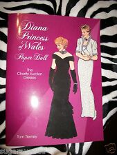 NEW Diana Princess of Wales Paper Doll: The Charity Auction Dresses by Tom Tiern
