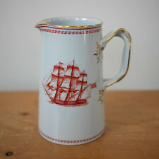 "COPELAND SPODE Trade Winds 5"" Pitcher Creamer 16 oz Jug Tall Ships Red Porcelain"