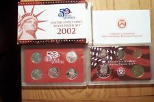 2002 S10 COIN SILVER PROOF DIE CLASH ERROR SET WITH STATEHOOD QUARTERS COA Box -