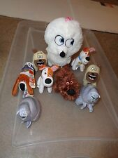 LOT PLUSH DOLL FIGURE SECRET LIFE OF PETS CHLOE POPS MAX MEL DUKE GIDGET CAT DOG