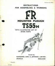 RANSOMES TS55H PLOUGH OPERATORS MANUAL