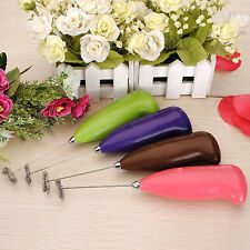 Kitchen Home Tool Electric Egg Beater Handle Milk Coffee Shaker Whisk Mixer 1X
