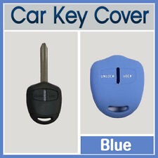 MITSUBISHI LANCER PAJERO OUTLANDER EVO TRITON 2B CAR KEY SILICONE COVER BLUE 1PC