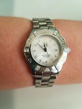 STUNNING TAG HEUER AQUARACER WAF141G LADIES MOTHER PEARL DIAMOND WATCH box paper