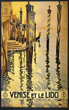 Venice Italy 1920's Vintage Style Travel Poster 24x38