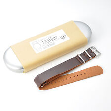 KR-NET MOD Choco Leather Watch Strap Band for Withings Activité Pop Steel