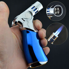 JOBON Quad 4 Jet Turbo Torch Refillable Cigarette Cigar Windproof Lighter Blue