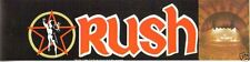 Rush All The Worlds A Stage Bumper Sticker Vintage 1984 Geddy Lee