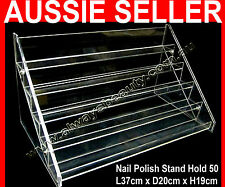 5 Tier Nail Polish Stand Hold 50-55 High Quality Acrylic Rack Fit OPI OZ
