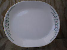 Corelle Dishes Rosemarie White Large Serving Platter 12 Inch