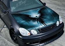 Black Angel Full Color Graphics Adhesive Vinyl Sticker Fit any Car Hood #050