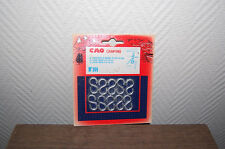 LOT 10 CROCHET S  CAO CAMPING TENTE BRICOLAGE   8X24X20   VINTAGE 80 NEUF