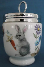 ROYAL WORCESTER KING SIZE A SKIPPETY TALE EGG CODDLER RABBIT HEDGEHOGS UNUSED