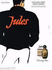 PUBLICITE ADVERTISING 055  1980  JULES par RENE GRUAU eau de toilette homme DIOR