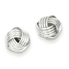 925 Sterling Silver Polished Post Love Knot Earrings