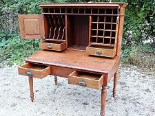 Primitive Country Antique Cartographer Map Maker Printer's drafting desk cabinet