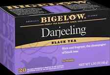 1 Box - Bigelow Darjeeling Tea  - 20 Tea Bags - FREE SHIPPING!