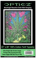 POT LEAF - BLACKLIGHT FABRIC POSTER - 23x28 WALL HANGING TAPESTRY WEED BLF45
