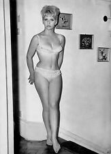 1960s Sexy Nude Pinup in white bra and panties Angela Jones 8 x 10 Photograph
