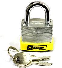 24x Small Metal Padlock Mini Brass Box Travel Keyed Locks Laminated Safe 30mm US