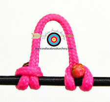 2 Pack Pink Archery Release Bow String Nock D Loop Bowstring BCY #24
