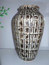 Keramikvase Jasba Vase Bodenvase 35cmgroß  50er 60er Germany beige braun vintage
