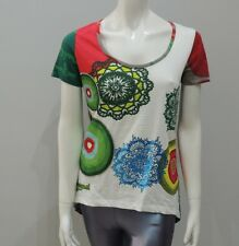 New DESIGUAL Women's Shirt Top Blouse Multicolor Size Medium