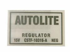Mustang Voltage Regulator ECD Decal with A/C 1965 - 1966 - Osborn Reproductions