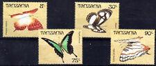 PAPILLON Tanzanie 4 val 1 de 1988 ** - BUTTERFLY SCHMETTERLING MARIPOSA FARFALLA