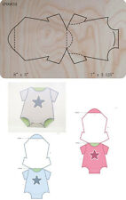 Baby Star onesie Wooden Die Fits Big shot Pro, Sizzix New i12 VP00834