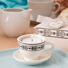 50 Tea Cup And Saucer Candle Mini Shower Wedding Party Event Favor Bulk Lot