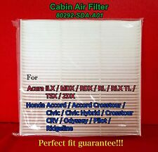 C35519 CABIN AIR FILTER ACCORD CIVIC CRV MDX RDX RL TL TSX 80292-SDA-A01