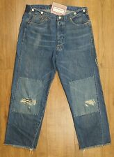 Levis Vintage Distress LVC 1915 501 White Oak Blue Selvedge Cinch Brace Jean W32
