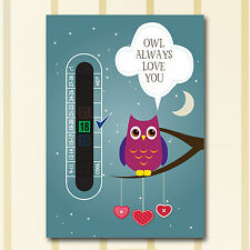 A6 Nursery and Childrens Owl Aways Love You Baby  Room Thermometers